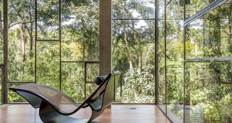 Natureza e arquitetura interagem na bela Casa Biblioteca – Atelier Branco